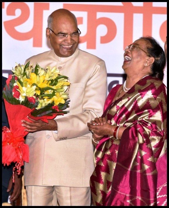 Ram-Nath-Kovind-with-his-wife-Savita-Kovind-Be-An-Inspirer
