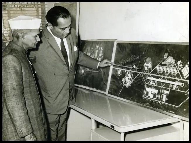 Homi Jehangir Bhabha with 2nd Prime Minister India, Lal Bahadur Shastri