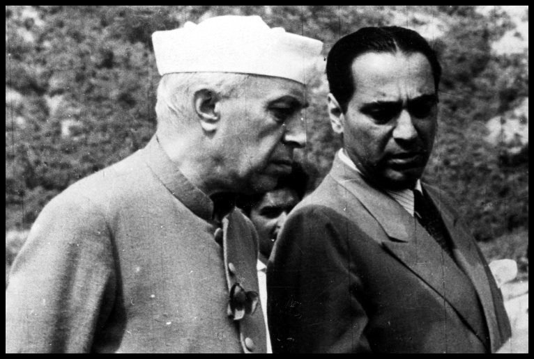Homi-Jehangir-Bhabha-with-First-Prime-Minister-of-India-Jawaharlal-Nehru-Be-An-Inspirer