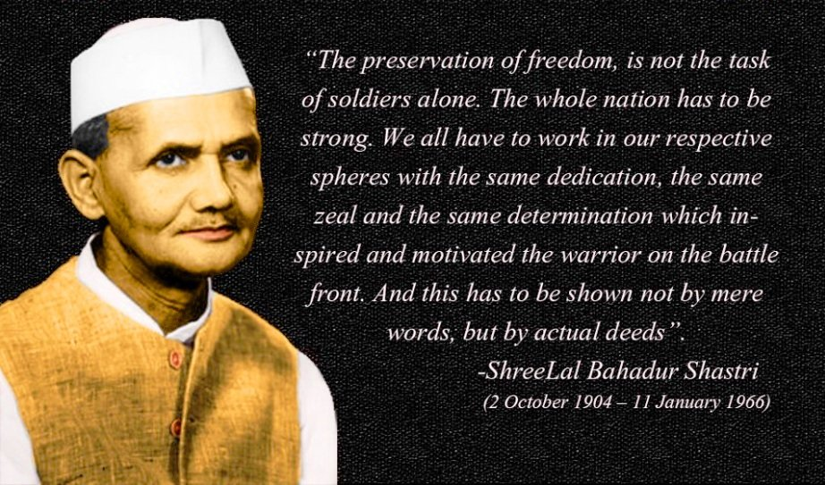Quotes by Lal Bahadur Shastri