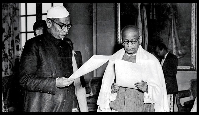Rajendra Prasad and Vallabhbhai Patel
