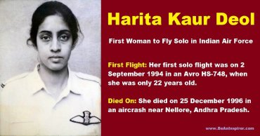 The-inspiring-story-of-Harita-Kaur-Deol-the-first-woman-to-fly-solo-in-Indian-Air-Force-Be-An-Inspirer