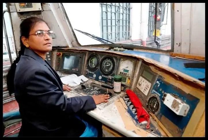 Surekha-Yadav-Indias-First-Female-Train-Driver-Be-An-Inspirer