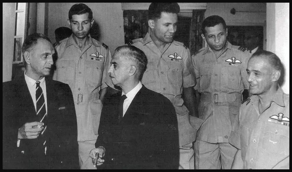 Brothers-Denzil-Keelor-Alfred-Cooke-Trevor-Keelor-and-Jimmy-Goodman-in-uniform-at-a-post-war-felicitation-Be-An-Inspirer