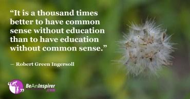 Common Sense Perfects Education