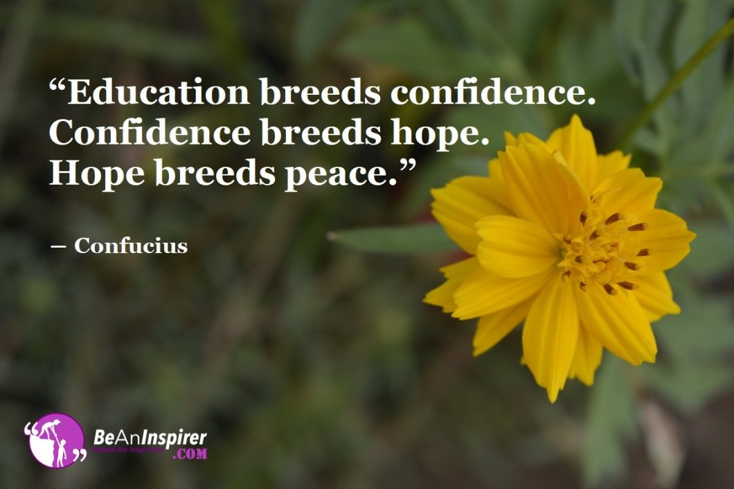 Path To Enlightenment: Education Builds Confidence And Hope
