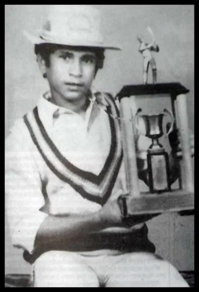 School Cricket trophy -Sachin Tendulkar