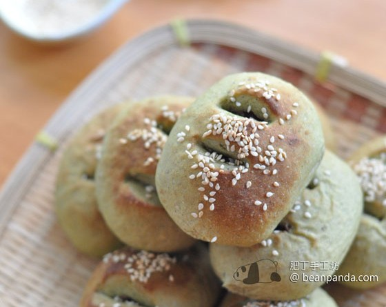 紅豆綠茶麵包【和風絶配】Red Bean Matcha Bread