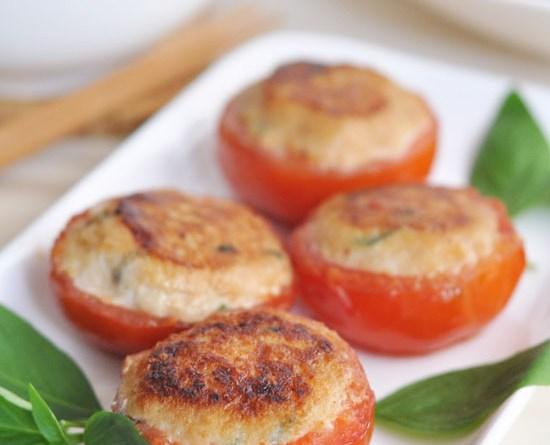 煎釀番茄【家鄉小菜 / 少油版】Stuffed Tomato