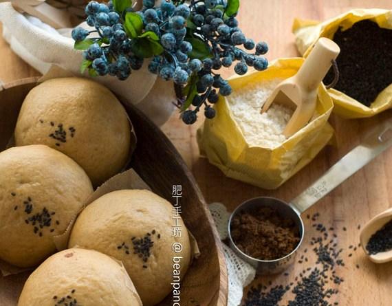 黑糖糙米蒸麵包【鬆軟油亮 / 無油】Brown Rice Bread