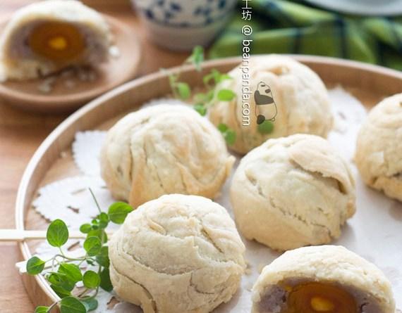 免炸潮州芋泥月餅【入口香酥】Chaozhou Taro Mooncake