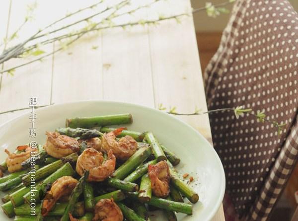 蘆筍炒蝦仁【春季豪華小炒 】Stir-fry Asparagus with Shrimp