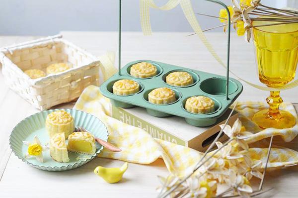 脆皮奶皇月餅【無添加】Custard Mooncake
