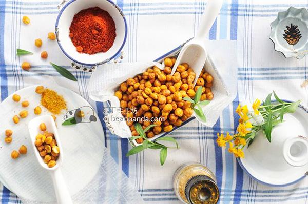 烤鷹咀豆【低卡零咀】Simple Roasted Chickpeas Recipe