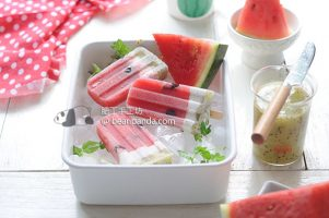 手工西瓜冰棒【天然水果肉/不加入白砂糖】Watermelon Popsicles ~ All Natural Ingredients