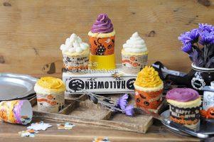 檸檬優格杯子蛋糕【無油低卡/萬聖節】Lemon Yogurt Halloween Cupcake