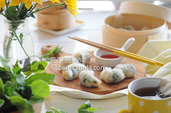 豌豆苗水晶餃【廣東點心】Pea Shoots Dumplings Recipe