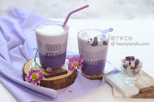 芋頭豆奶沙冰/芋頭冰淇淋【蜜芋頭二吃】Taro Smoothie & Icecream