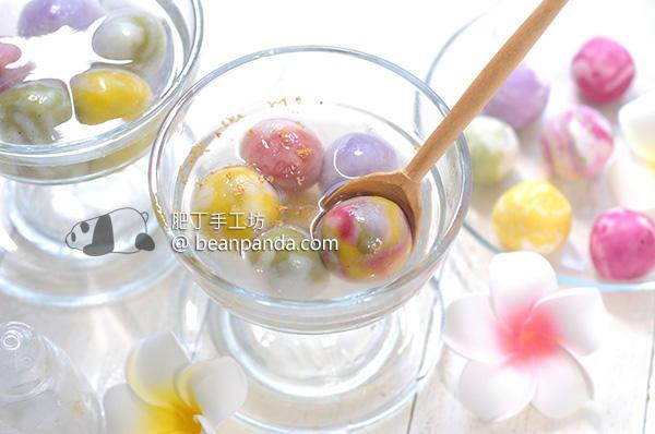琉璃湯圓 天然色素 冬至元宵 Marble Dumplings (Natural Colouring)
