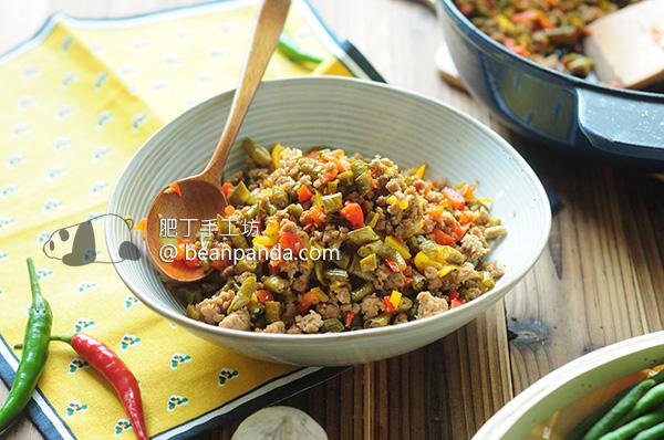肉末炒酸豇豆 Stir-fried Minced Pork with Lacto Fermented Green Bean Recipe