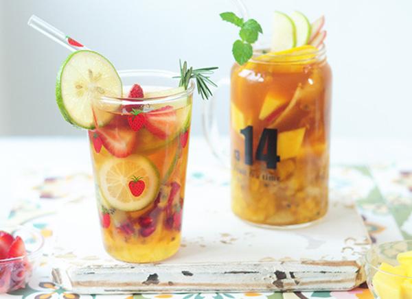 蜜漬檸檬/水果茶 茶香瑩繞甜蜜蜜的天然果味 Cold Brewed Tea with Agave Nectar Lemon Recipe