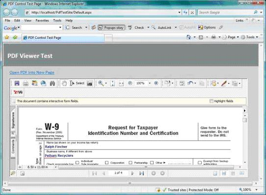 How to Display PDF documents with ASPNET