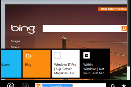 Windows 8 built in IE