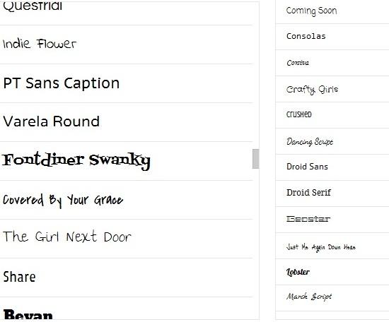 Google Docs New Fonts