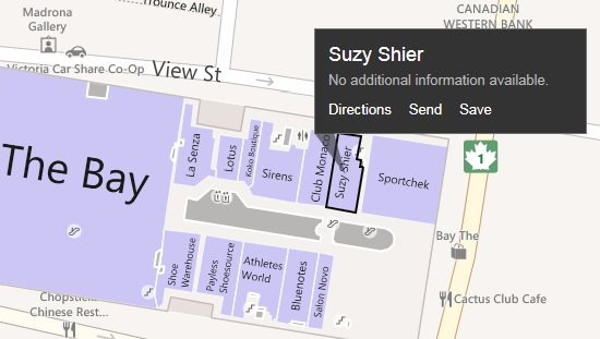 The Bay Center Mall in Bing Maps Building View