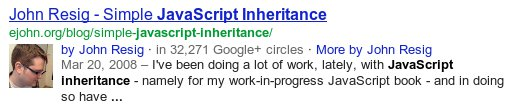 Rich Snippet SERP example