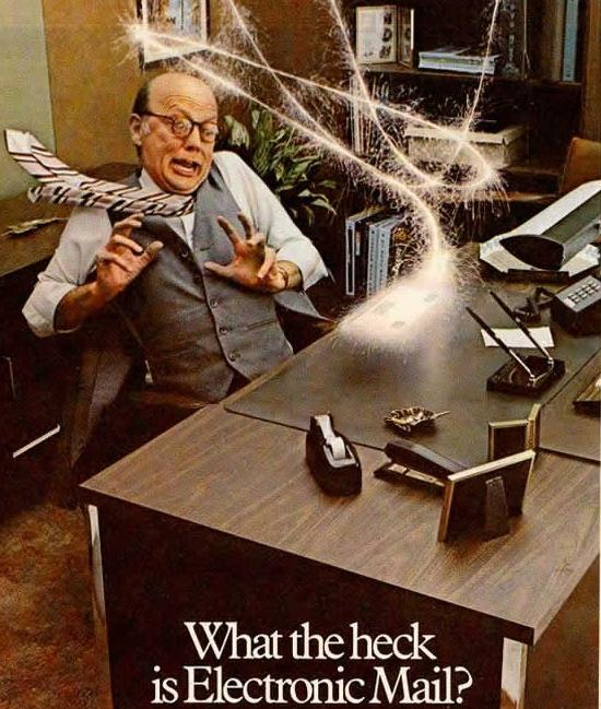 Vintage Honeywell advertisement for electronic mail.