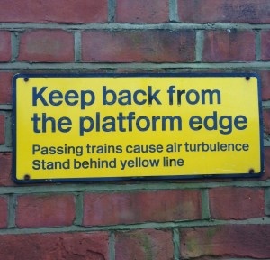 Warning sign, train, turbulence