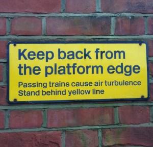 Warning sign, train, turbulence