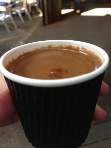before settling, Turkish coffee