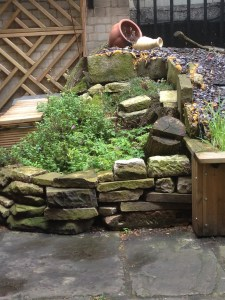 stone recycling, slate, slate waterfall, geology