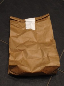 paper bag roasted coffee