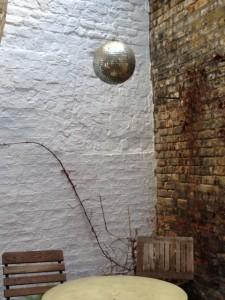 glitter ball, disco at Brill Exmouth Market