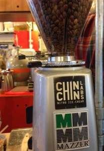 Coffee grinder at Chin Chin Labs Camden