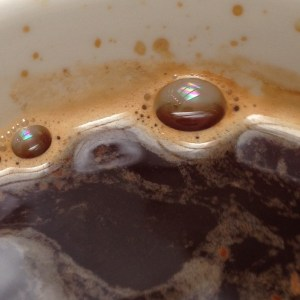 interference patterns on coffee