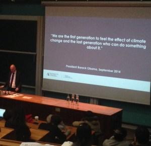 Bob Ward, Obama quote, climate change