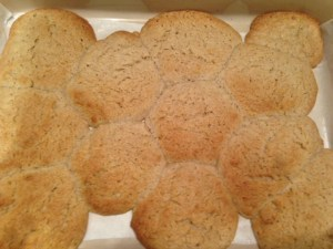 biscuits gone wrong, crystals in the oven