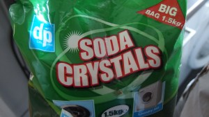 washing soda, available in supermarkets