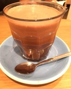 blue shadow, hot chocolate