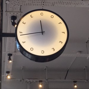 coffee clock, Rosslyn coffee