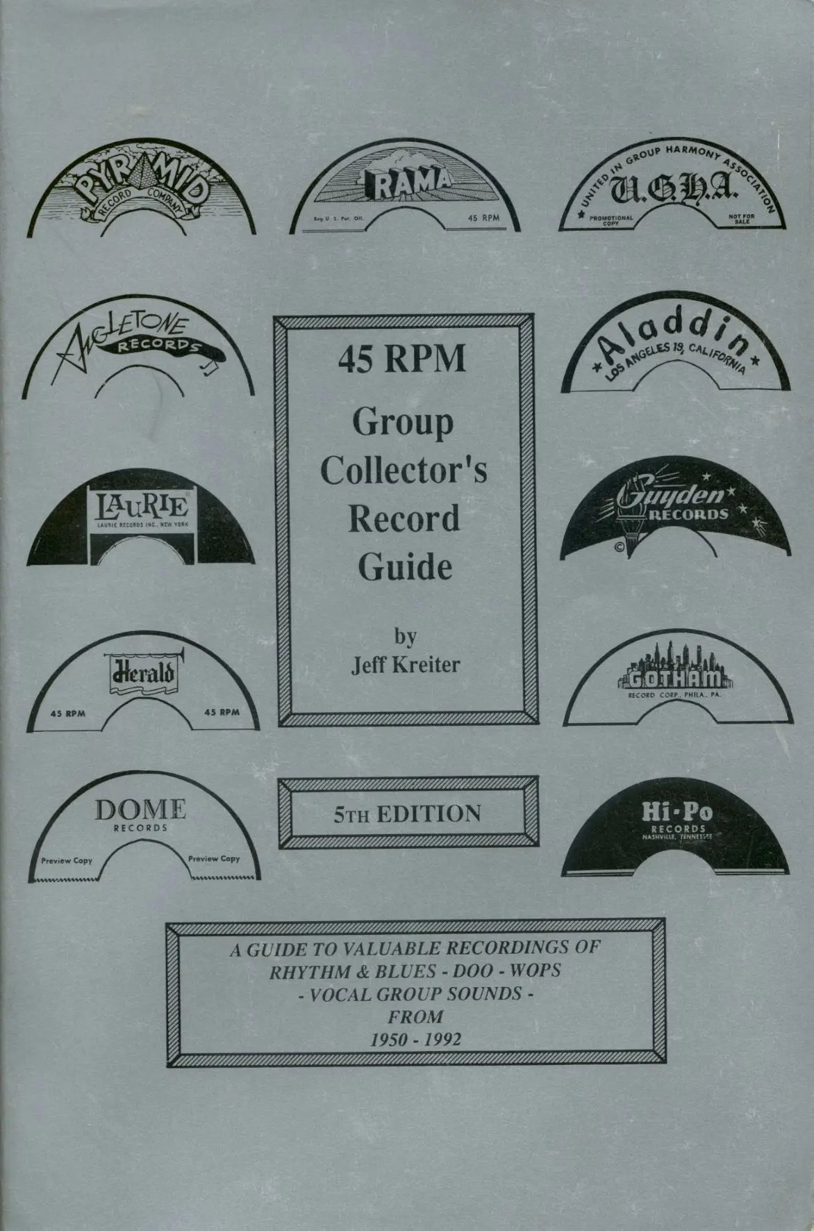 Jeff Kreiter Bücher/Books: 45rmp Group Collector's Record