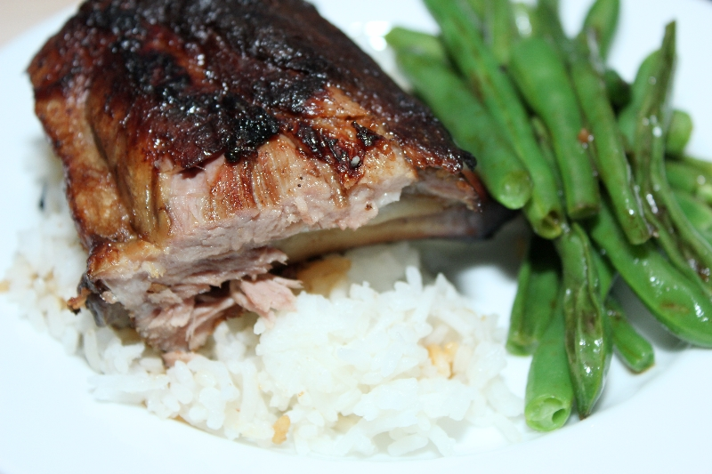 Slow-cooker Sticky Asian ribs