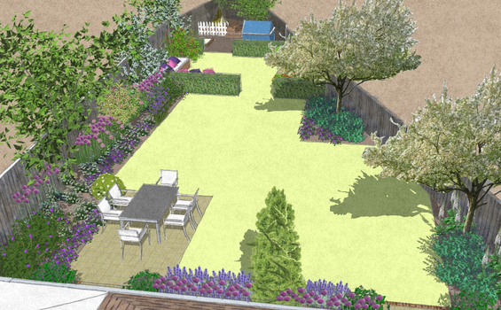 Triangle Shaped Garden For For The Whole Family Bea Ray Garden