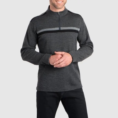 Quarter Zip Long Sleeve Thermal Knitwear - Bearboxers Menswear