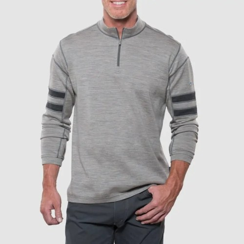 Merino Wool 1/4 Zip Anti – Odour Long Sleeve Sweater