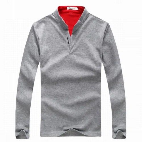 Mens Sports Solid Colour Long Sleeved Golf Shirt